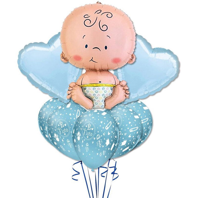 Composizione palloncini nascita Momenti Felici