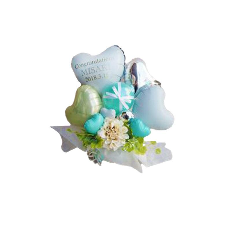 Palloncini cuori fiori