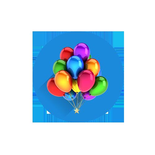 composizione palloncini sfoglia